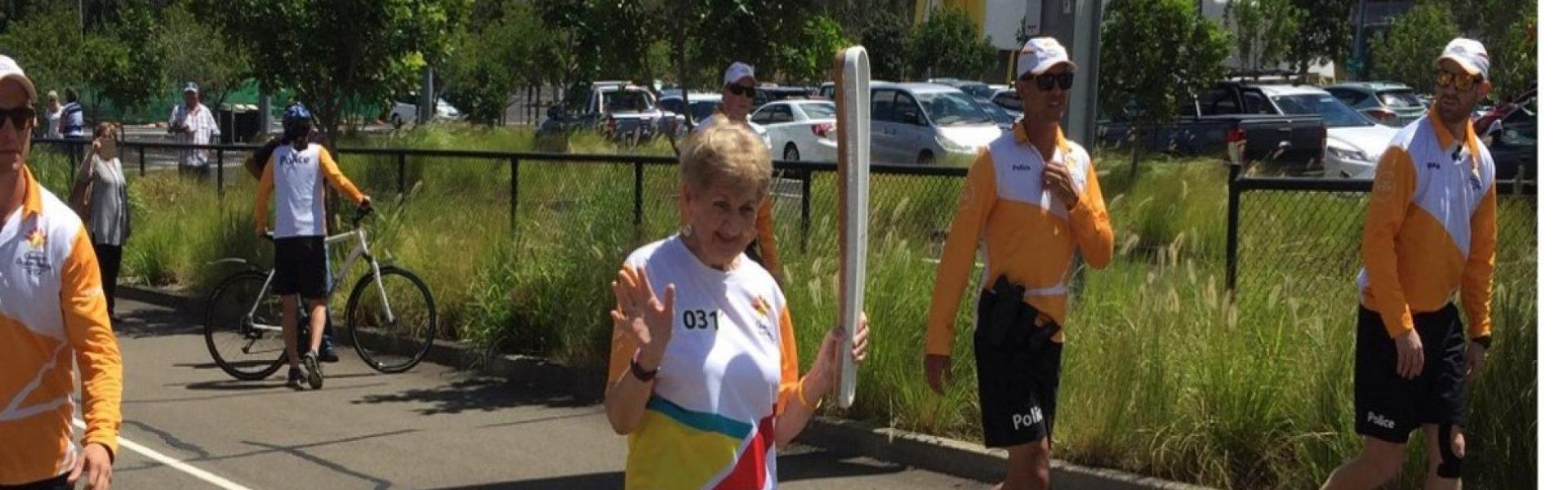 BP resident carries Commonwealth baton